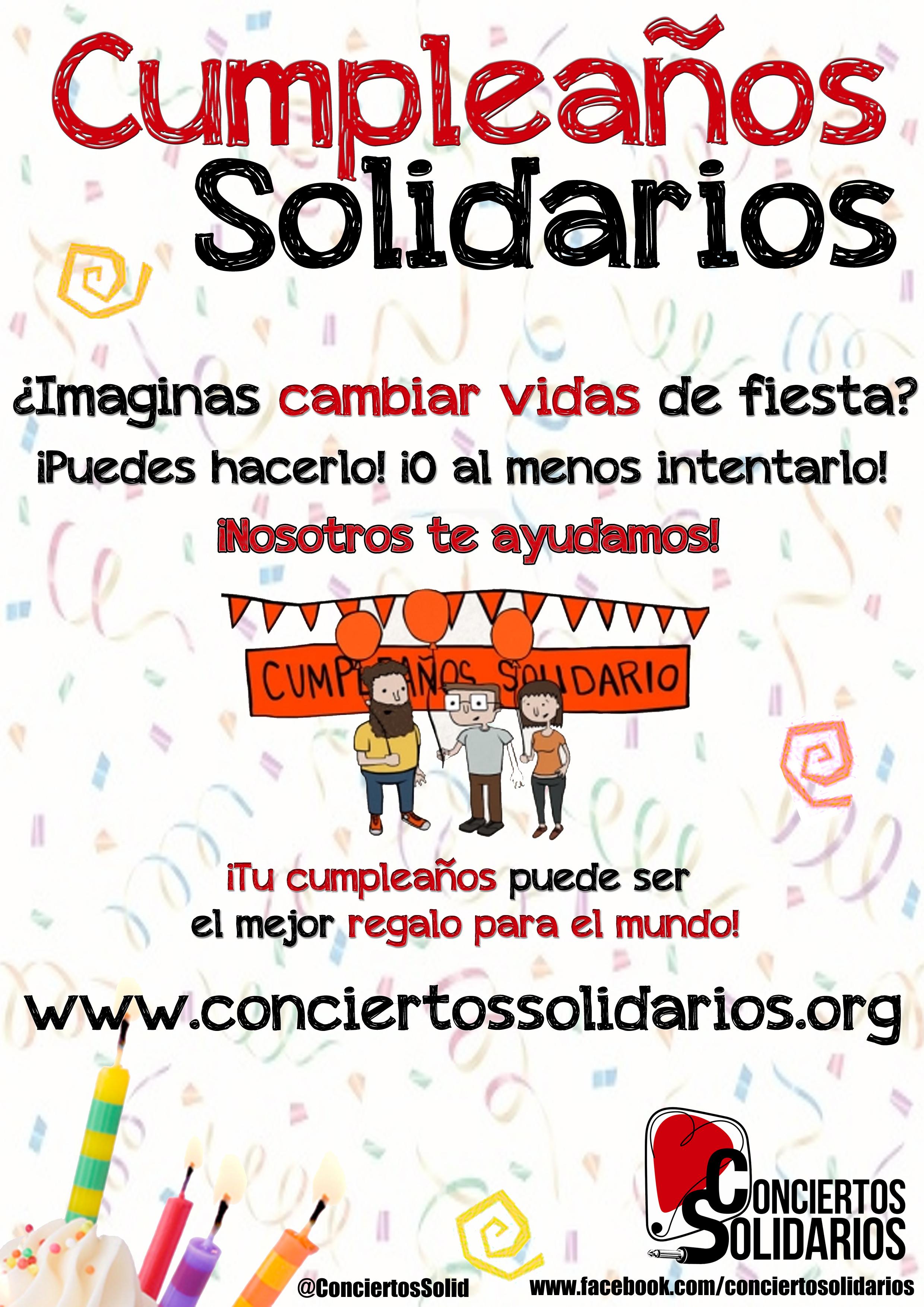 Cumpleaños Solidarios: Dona tus regalos